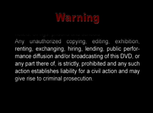 DVD Warning