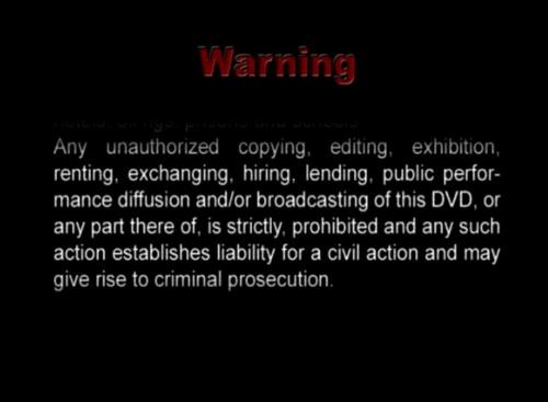 DVD Warning
