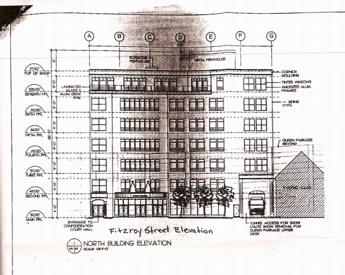 Rendering of proposed Fitzroy Street building