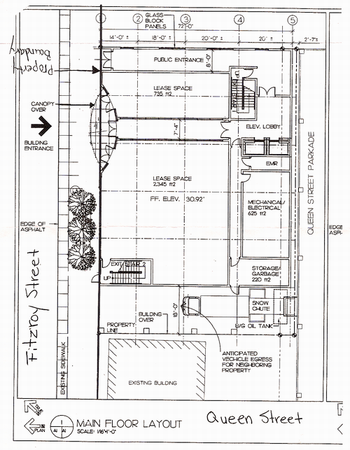 Layout of proposed Fitzroy Street building