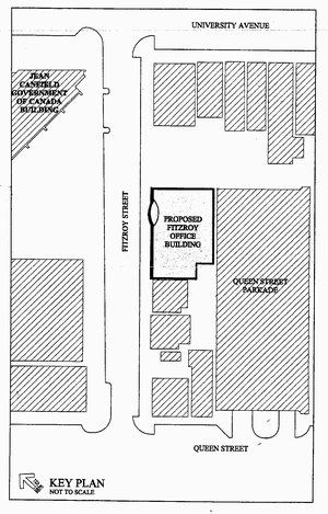 Block positioning of proposed Fitzroy Street building