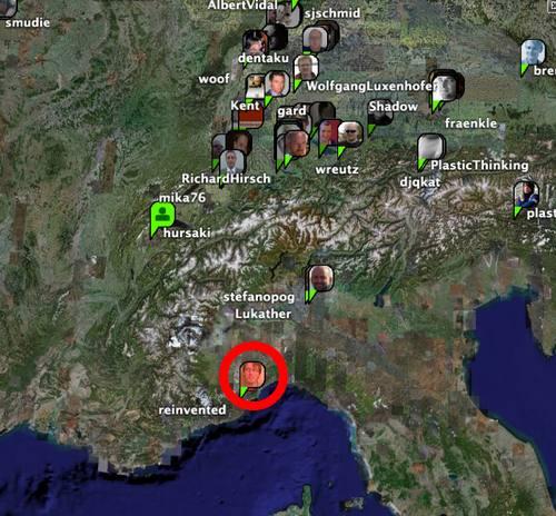 Google Earth + Plazes