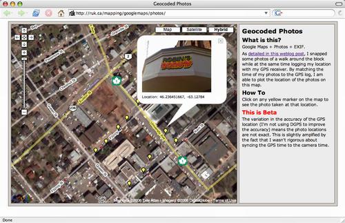 Google Maps Photo Browser