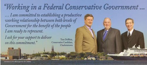 Stephen Harper, Tom DeBlois and Pat Binns