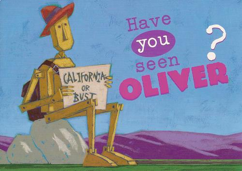 Have you seen Oliver? Postcard