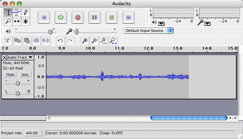 Audacity after recording