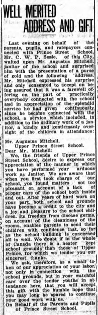 Clipping from The Guardian, December 9, 1916