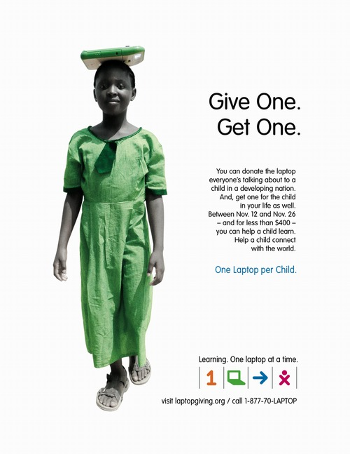 OLPC Give One Get One Poster