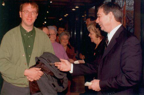 Pat Bins and Peter Rukavina in 2004