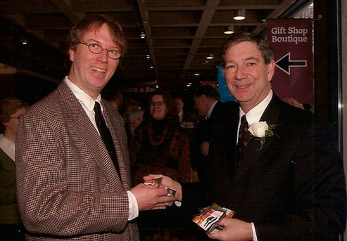 Pat Bins and Peter Rukavina in 2005