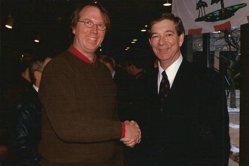 Pat Bins and Peter Rukavina in 2006