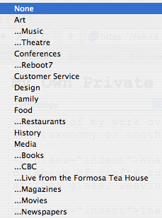 Partial list of my weblog post categories