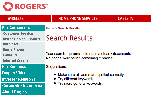 Screen Shot of Rogers.com