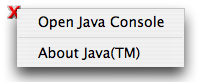 Java Console from inside Safari