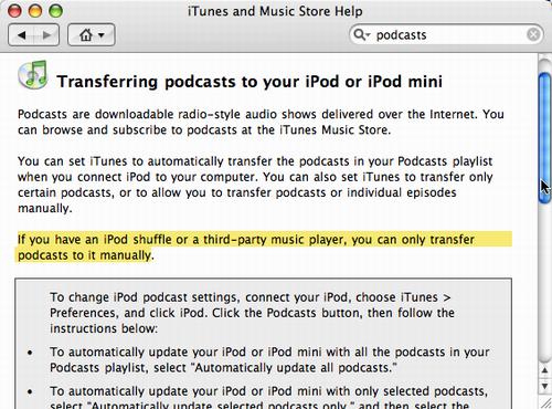 iTunes 4.9 Help Book