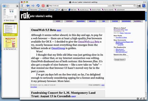 OmniWeb 5.5 Beta Screen Shot