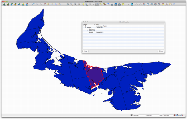PEI Parish Map Screen Shot in Quantum GIS