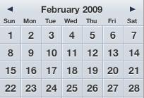 February 2009 Calendar