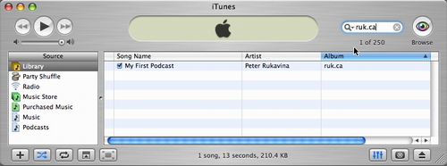 My First Podcast in iTunes