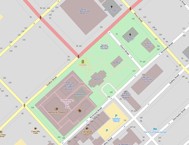 Queens Square in OpenStreetMap