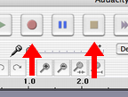Audacity Record and Stop Buttons