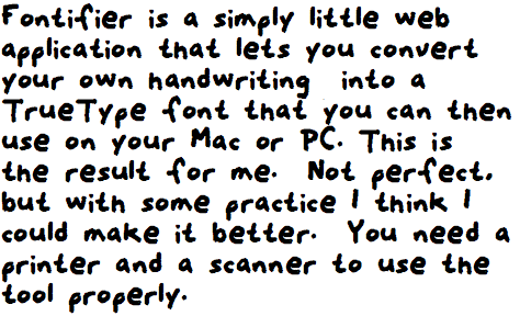 Fontifier sample text