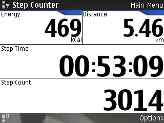 Nokia Step Counter screen shot