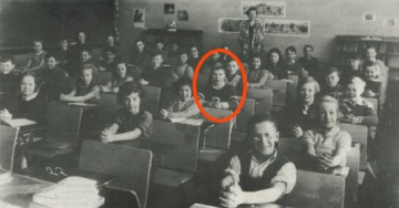 Tim Horton at School, Cochrane, Ontario, late 1930s