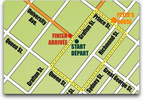 Tour de PEI Course Map in Charlottetown