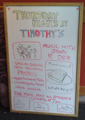 Poster Board at Timothy's in Charlottetown