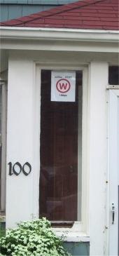 Warchalk Symbol at 100 Prince St., Charlottetown