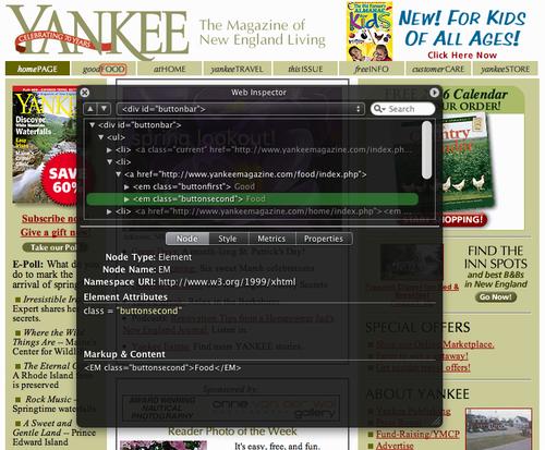 WebKit Web Inspector Screen Shot