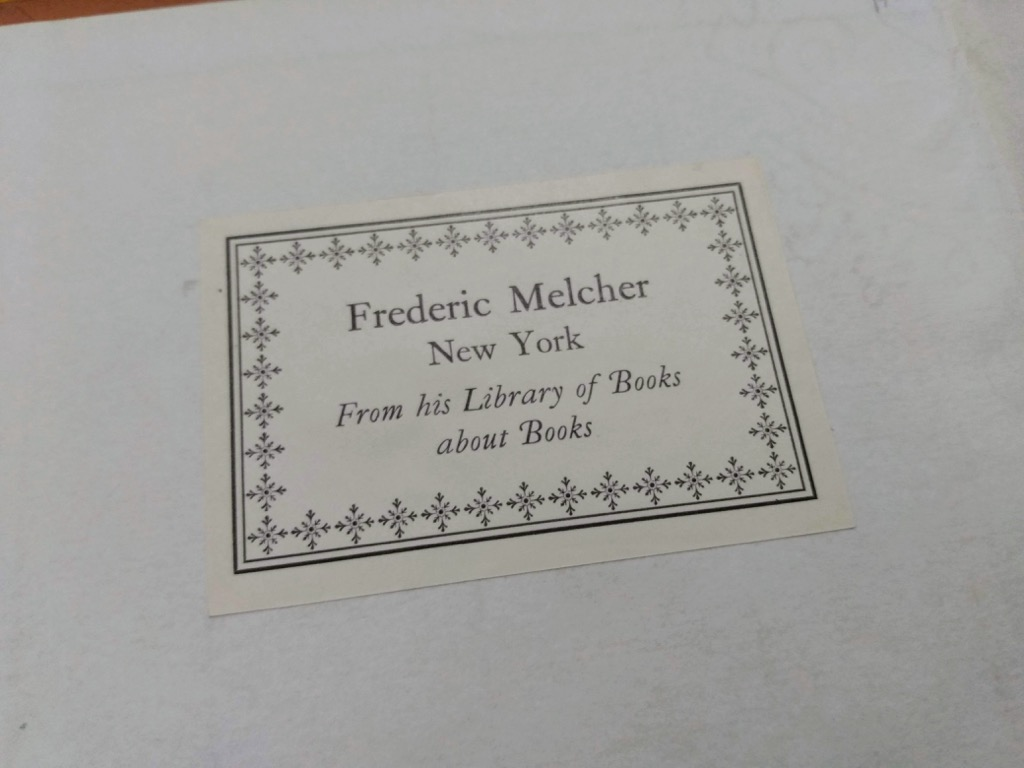 Frederic Melcher Bookplate