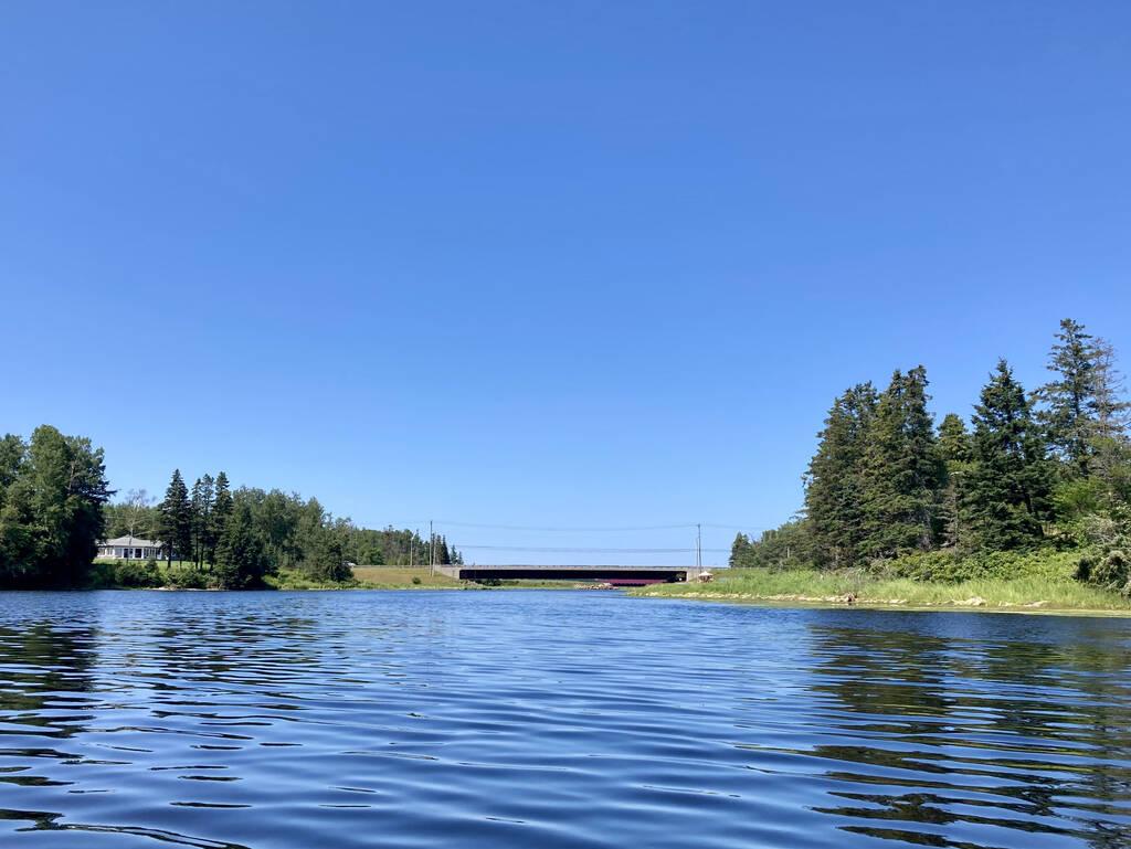 Midgell Bridge from the water.