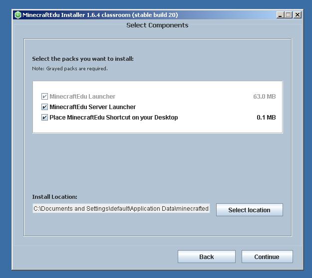 MinecraftEdu Server Installation Step 1