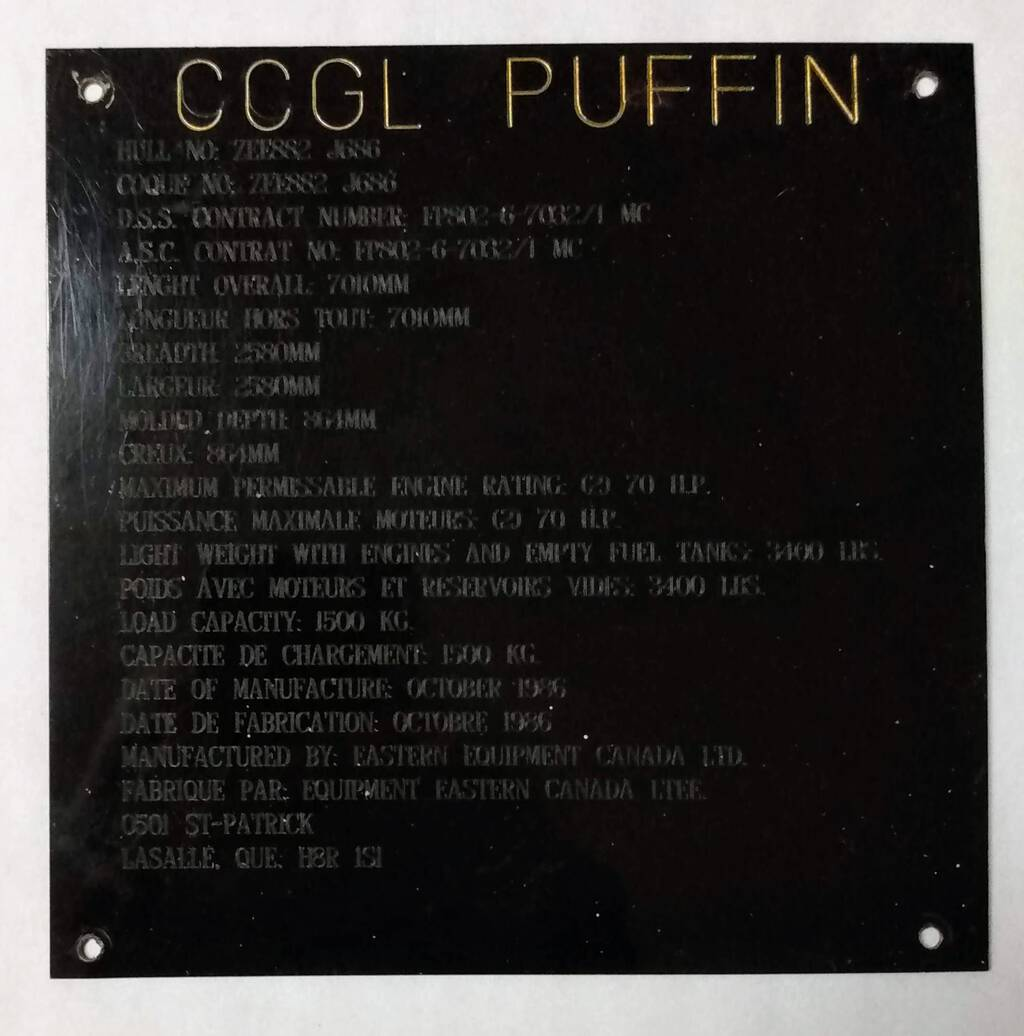 Puffin Nameplate