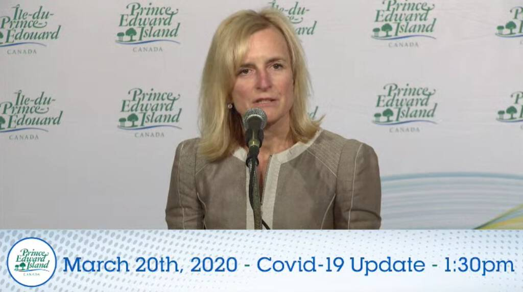 Dr. Heather Morrison giving her daily briefing, March 20, 2020.