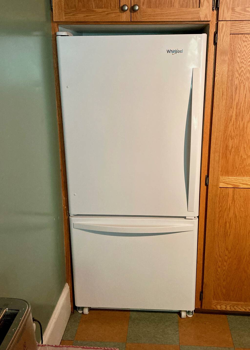 Photo of our new Whirlpool fridge