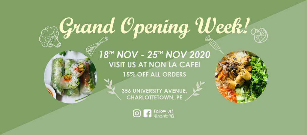 Banner ad for Non La's grand opening next week.