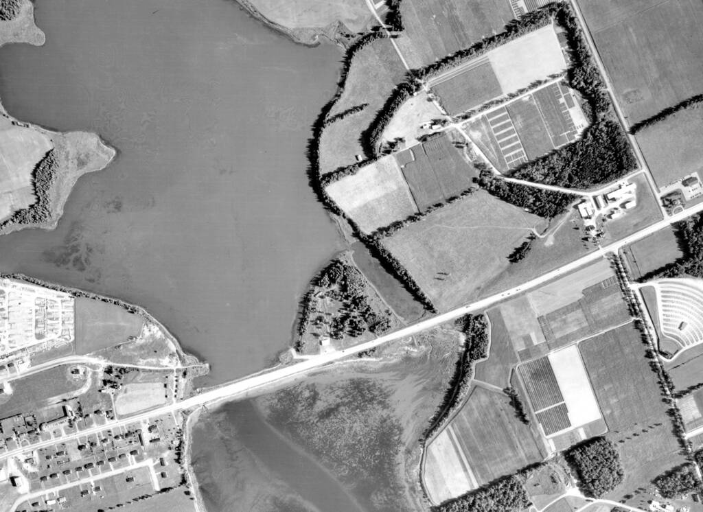 North River causeway in 1958.