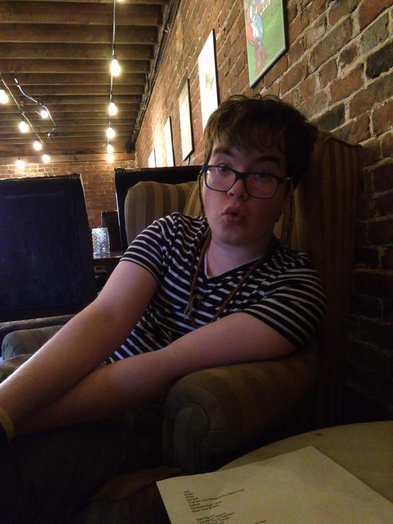 Oliver before his Fringe debut at Marc's Lounge