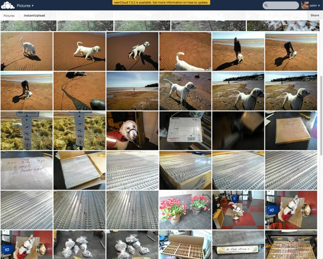 "ownCloud screen shot showing ""photos"" view"