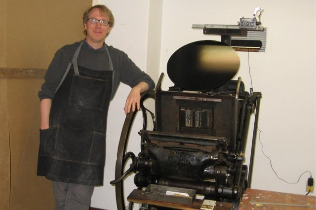 Me, at the Letterpress