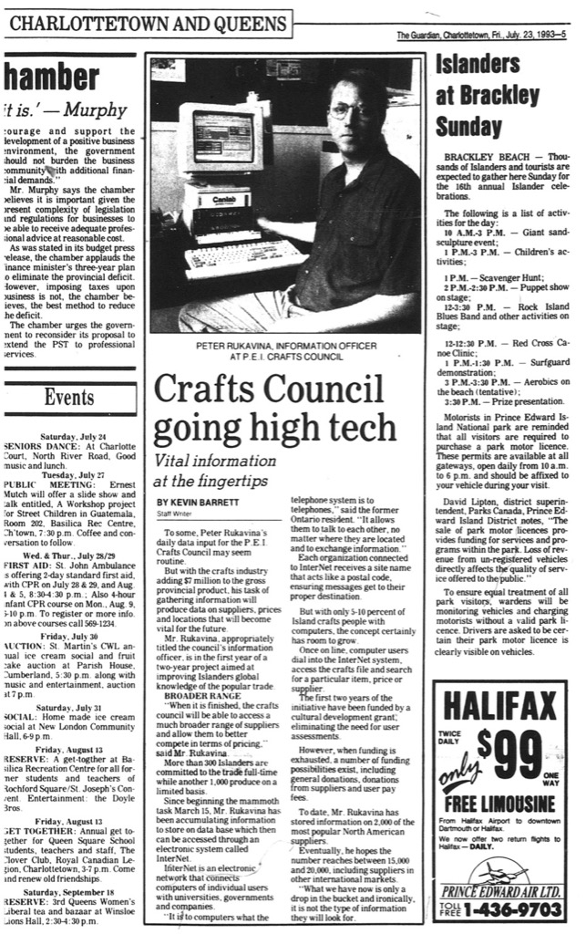 The Guardian, Charlottetown, Friday, July 23, 1993 (page 5)