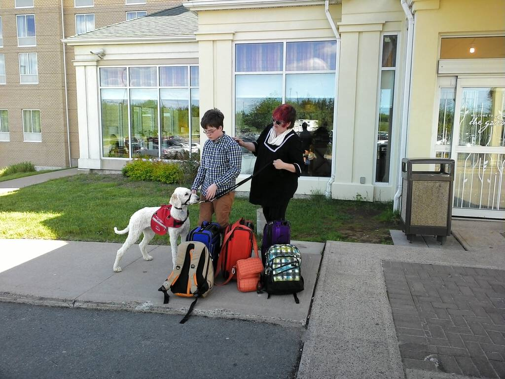 Family in Halifax with Ethan ready to travel