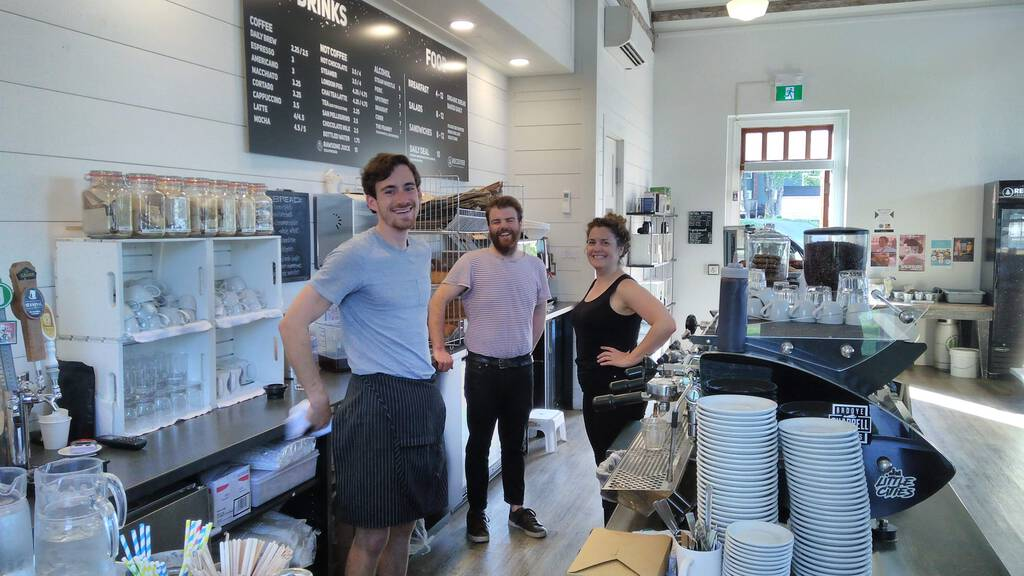 The People of Receiver Coffee Brass Shop