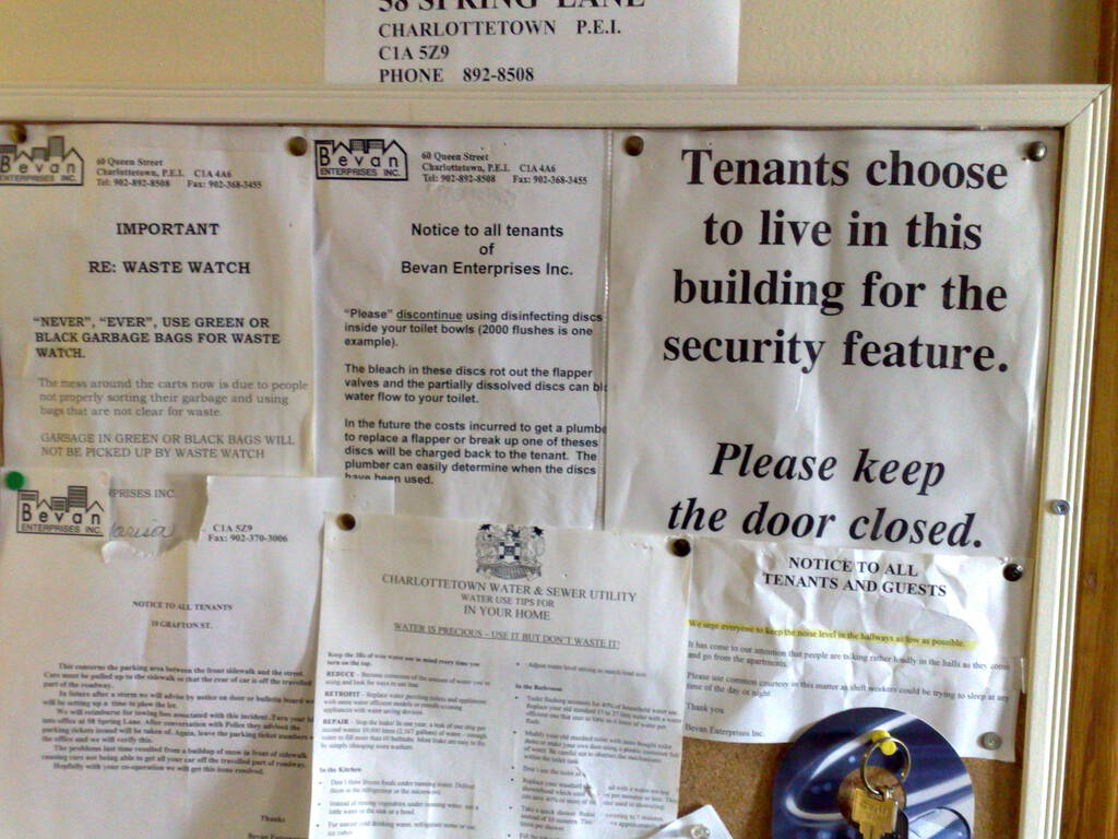 Rules for Tenants
