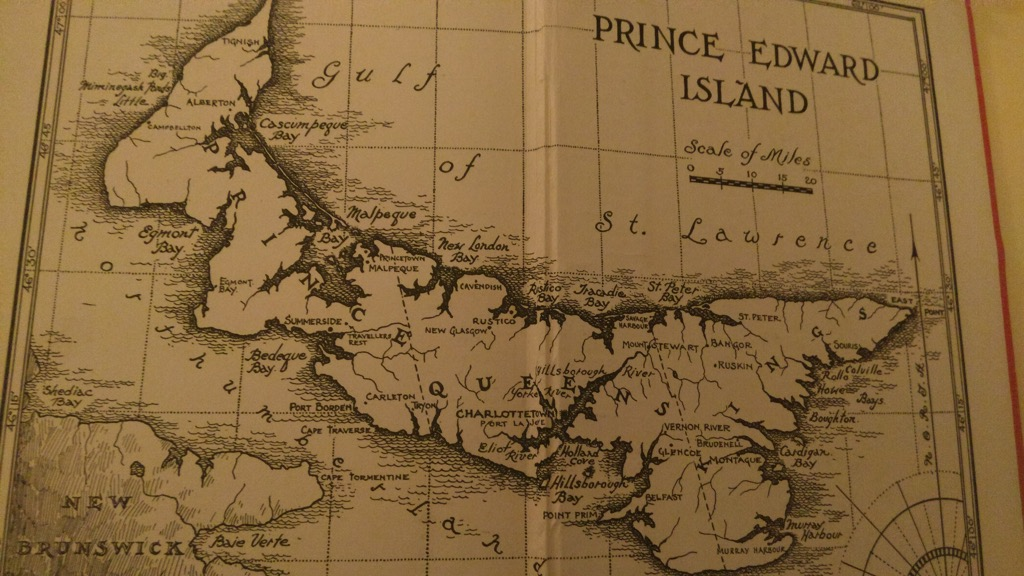 Map of PEI from John Croteau's book Cradled on the Waves