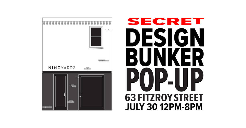 Secret Design Bunker Popup Invite