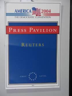 Reuters sign at DNC